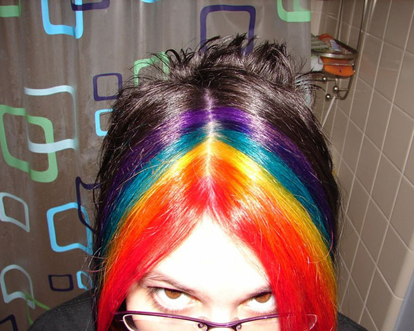 hair rainbow 25 Unbelievable Fun Hair Color Ideas