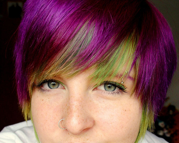 purplegreen 25 Unbelievable Fun Hair Color Ideas