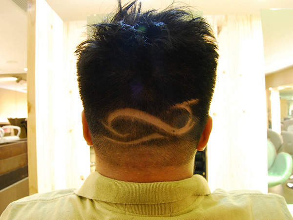 Spiral Loop Hair Tattoo