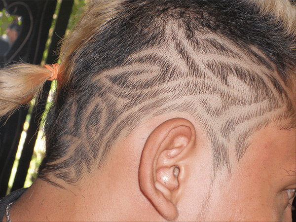 Arty Hair Tattoo