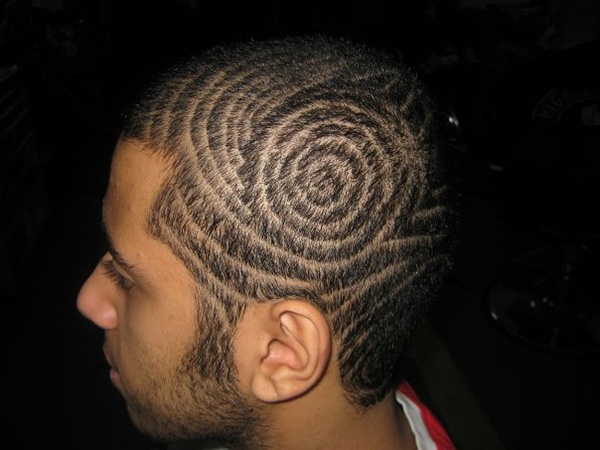 Spiralling Hair Tattoo