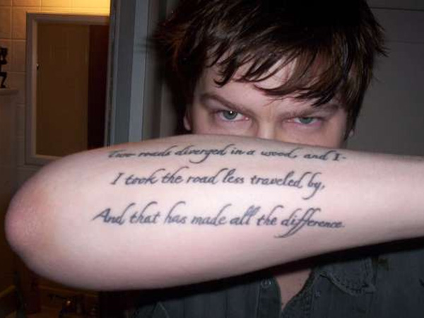 Robert Frost Love Tattoo