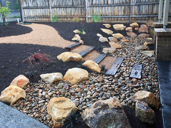 garden design with landscaping ideas with pebbles rocks pdf with small backyard garden ideas from suswest - Garden Ideas Using Stones