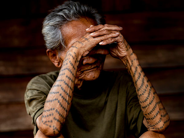 former tattooed slave 30 Remarkable Old People With Tattoos