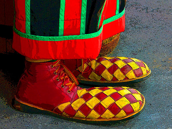 Red Yellow Checks Shoes