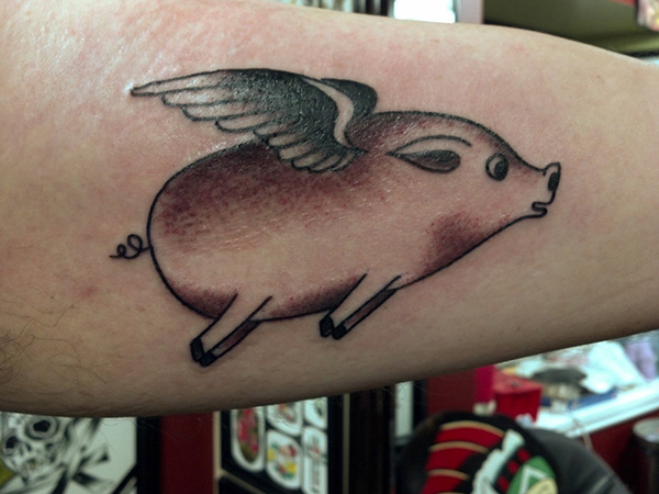Pig Can Fly Tattoo