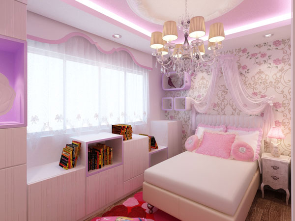 Pink Light Bedroom