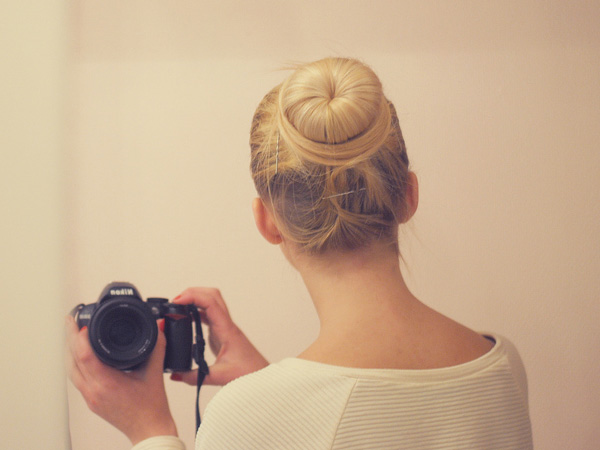Fullmoon Bun For Naturally Blonde Hair