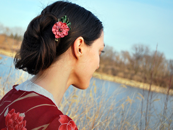 Flower Natural Hairstyle