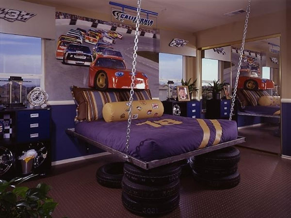 tyre house 25 Impossible Purple Bedroom Ideas