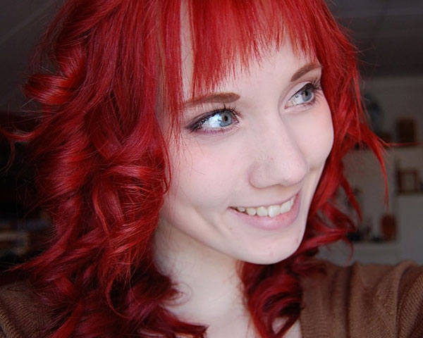 Distinctive Red Hairstyle