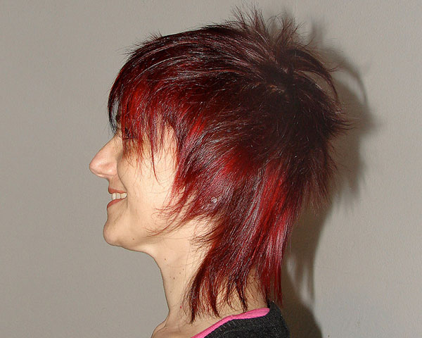 Funky Red Hairstyle