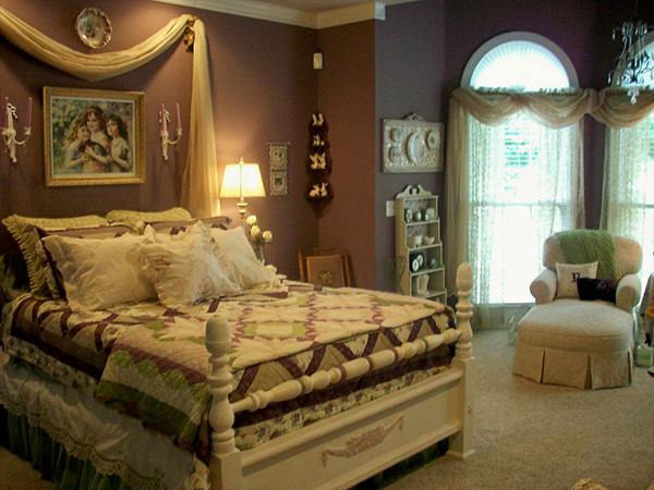 purple master bedroom 25 Different Shabby Chic Bedroom Ideas
