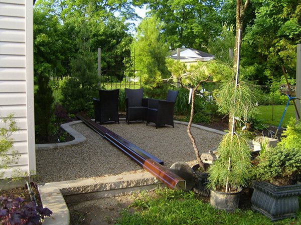 Garden Ideas For Small Backyards :  small landscape design the fresh green trees surrounding the landscape