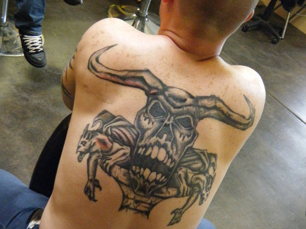 Fearful Back Tattoo