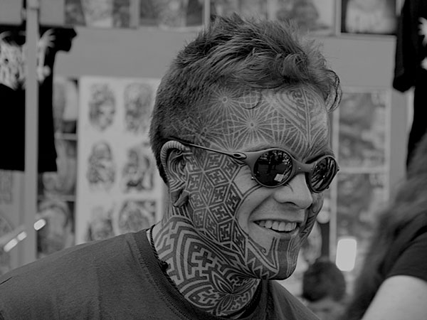 Unpleasant Face Tattoo