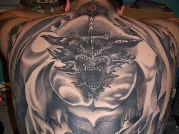 Gothic Dragon Tattoo