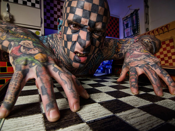 Chess Board Tattoo