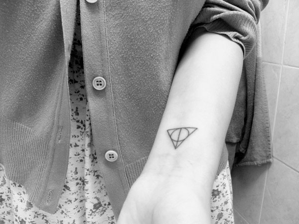 Deathly Hallows Wrist Tattoo