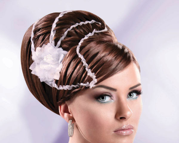 Large Updo With Ribbons