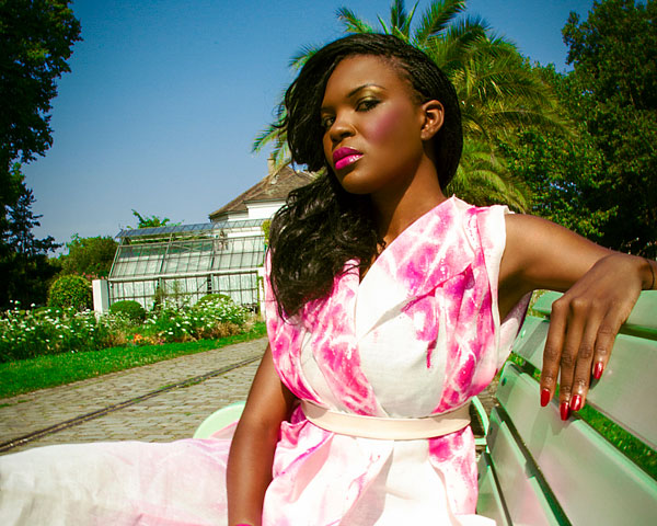 pink dress 24 Exceptional African American Natural Hairstyles
