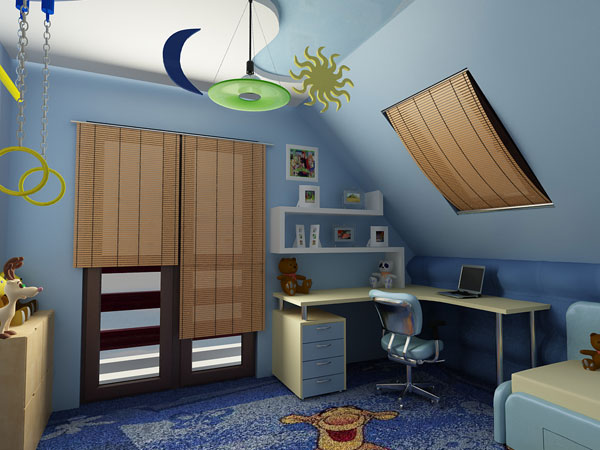 Fantasia Attic Bedroom Idea