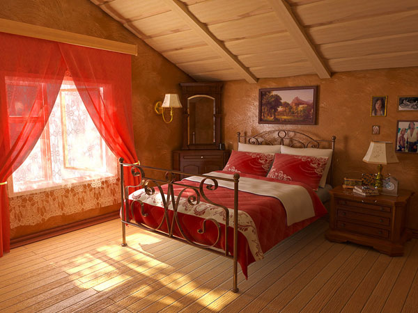 Attic Romance In Red