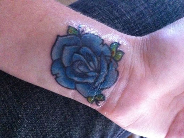 wristtattoo 21 Unique Blue Rose Tattoo Designs
