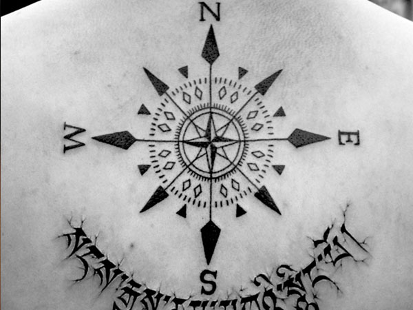 23 Cheerful Compass Rose Tattoo Ideas Slodive