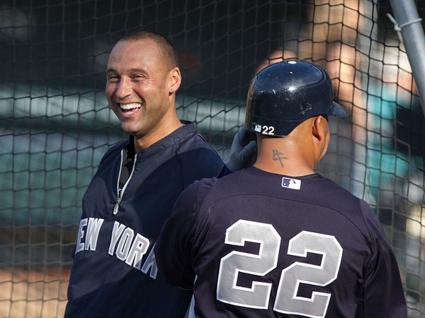 lughing 25 Different Derek Jeter Pictures
