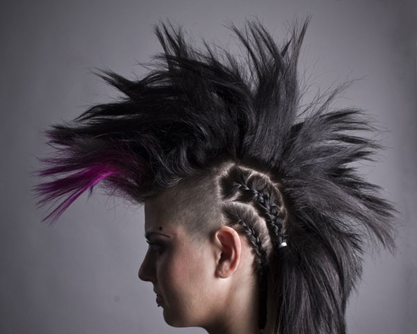 Purple Macabredge Hairstyle