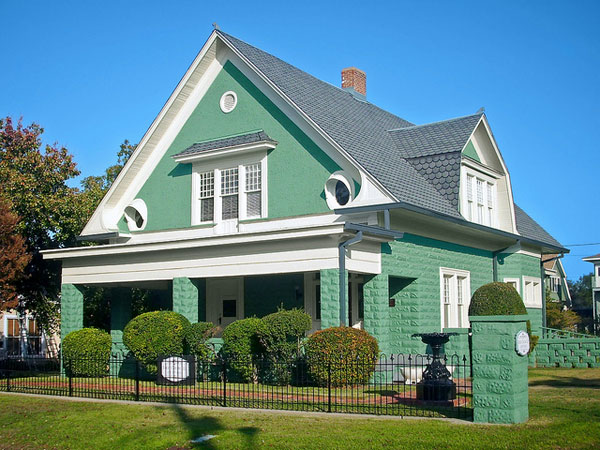 house color ideas. Dull Green 27 Elegant Exterior House Color Ideas  SloDive