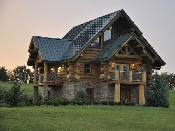 log house 27 Elegant Exterior House Color Ideas