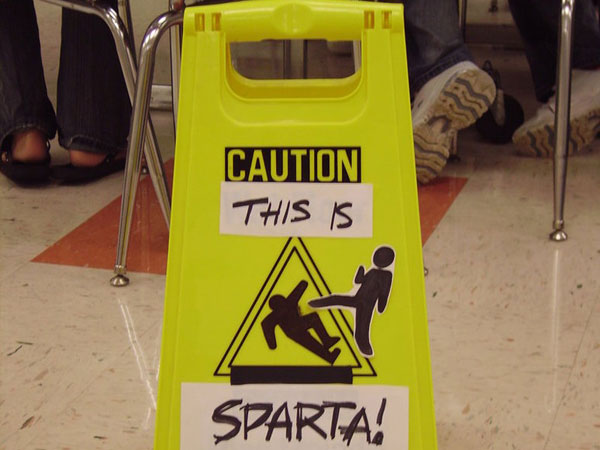 Spartalert Caution Funny Sign