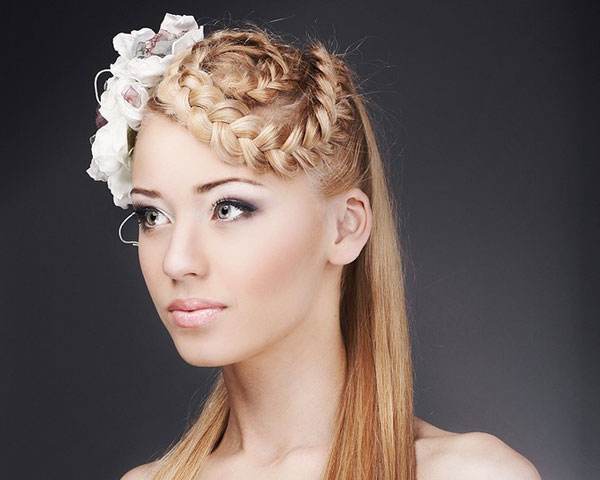 Woven Blonde Plaited Style