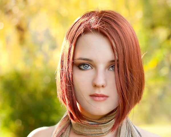 Redhead Bobbed Hairstyle