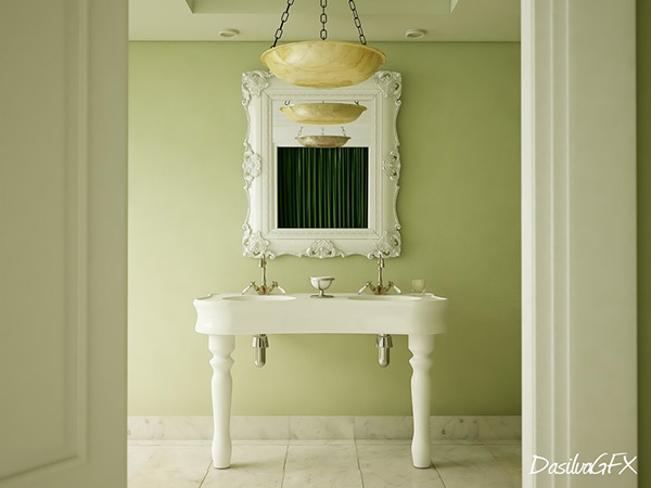 green colonial idea 26 Phenomenal Interior Paint Ideas