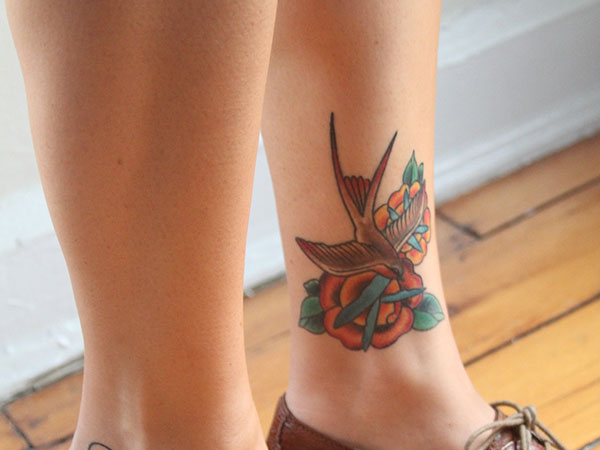 lovebird 25 Exciting Leg Tattoos For Women