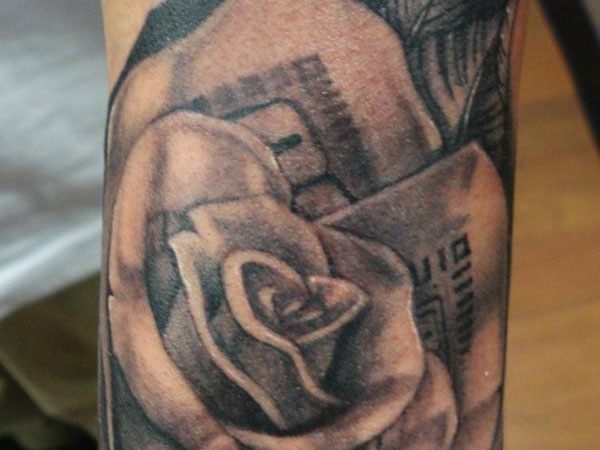 Shades Of A Money Rose Tattoo