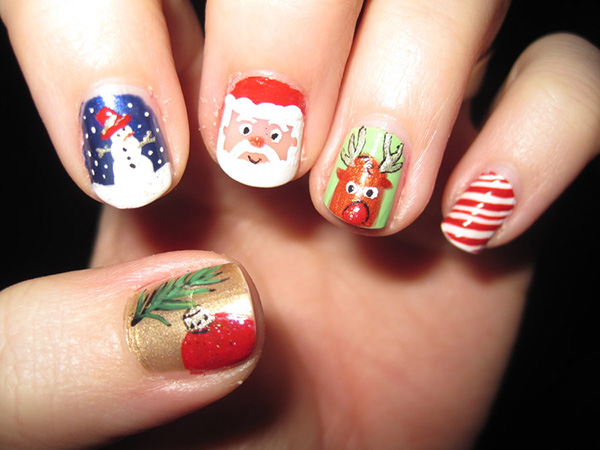 Christmas Theme Nails