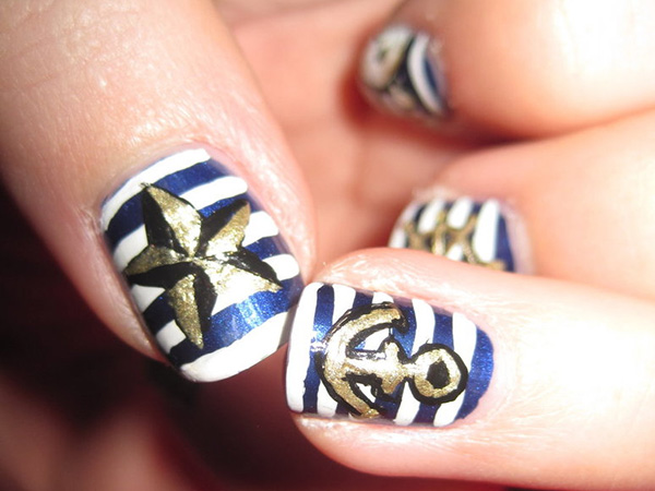 Sailor's Theme Nails