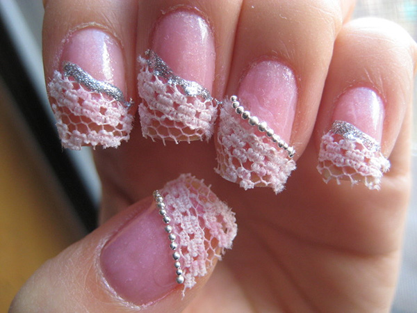 Pearly Lace Nails