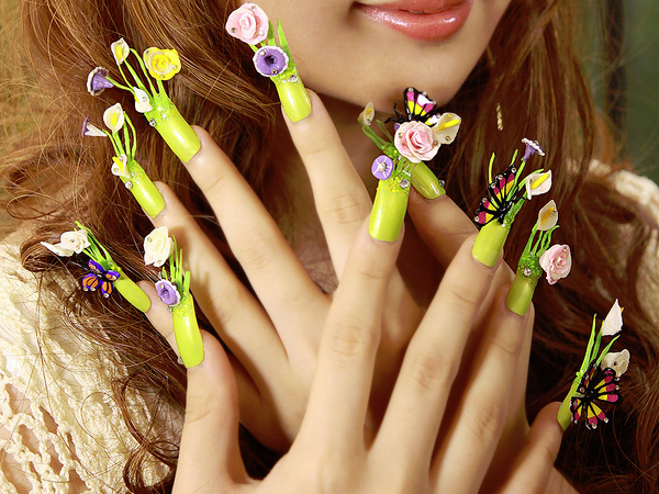 Flower Decoration Nails