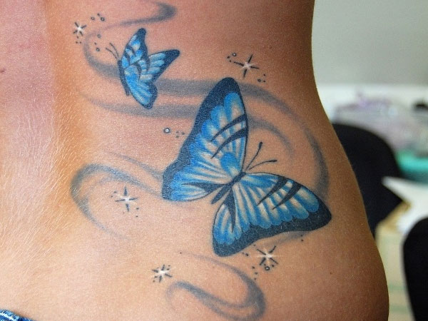 Butterfly Blues Nice Tattoo