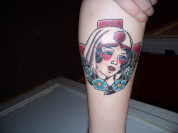 face 22 Adorable Nurse Tattoos