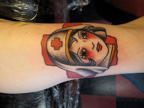 hello 22 Adorable Nurse Tattoos