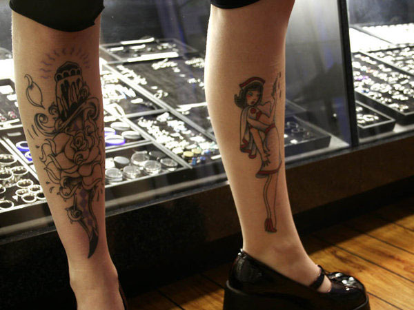 legtattoo 22 Adorable Nurse Tattoos