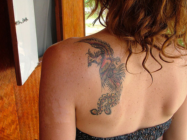phoenixback 25 Stupendous Phoenix Tattoos For Women