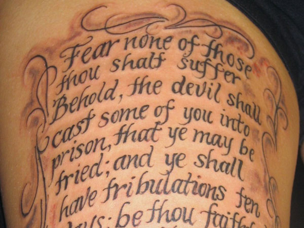 Scripture Tattoos For Women - 24 Eyecatching Collections | Design Press