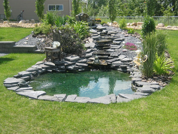 fountainbackyard 24 Simple Backyard Landscaping Ideas Which Look Exceptional